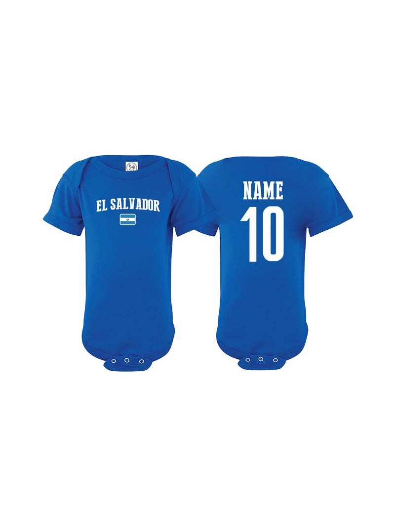 super popular 1a5af 431c2 El salvador flag world cup Baby Soccer Bodysuit