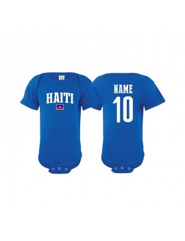 Haiti flag world cup Russia 2018 Baby Soccer Bodysuit jersey T-shirt
