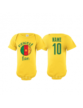 Cameroon Newest Fan Baby Soccer Bodysuit