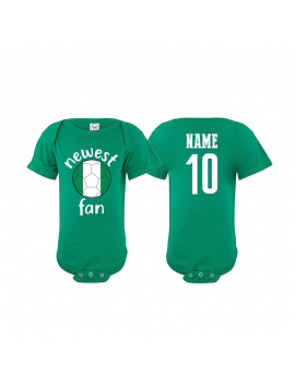 Nigeria Newest Fan  Baby Soccer Bodysuit