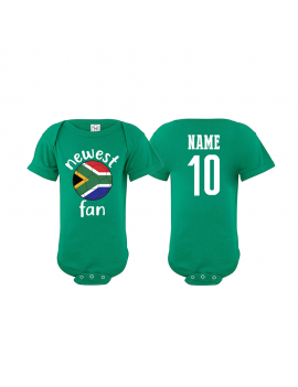 South Africa Newest Fan Baby Soccer Bodysuit