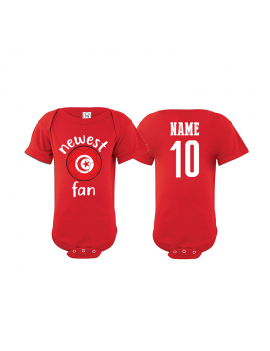 Tunisia Newest Fan Baby Soccer Bodysuit