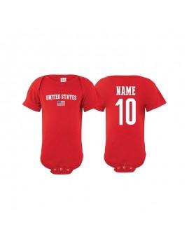 USA soccer baby jersey soccer body suit