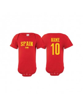 Spain flag country world cup 2018  Baby Soccer Bodysuit, jersey, t-shirts