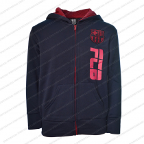 FC Barcelona Youth Zip Up Jacket Navy - Side Logo