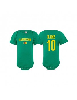 Cameroon world cup Russia 2018 Baby Soccer Bodysuit jersey T-shirt