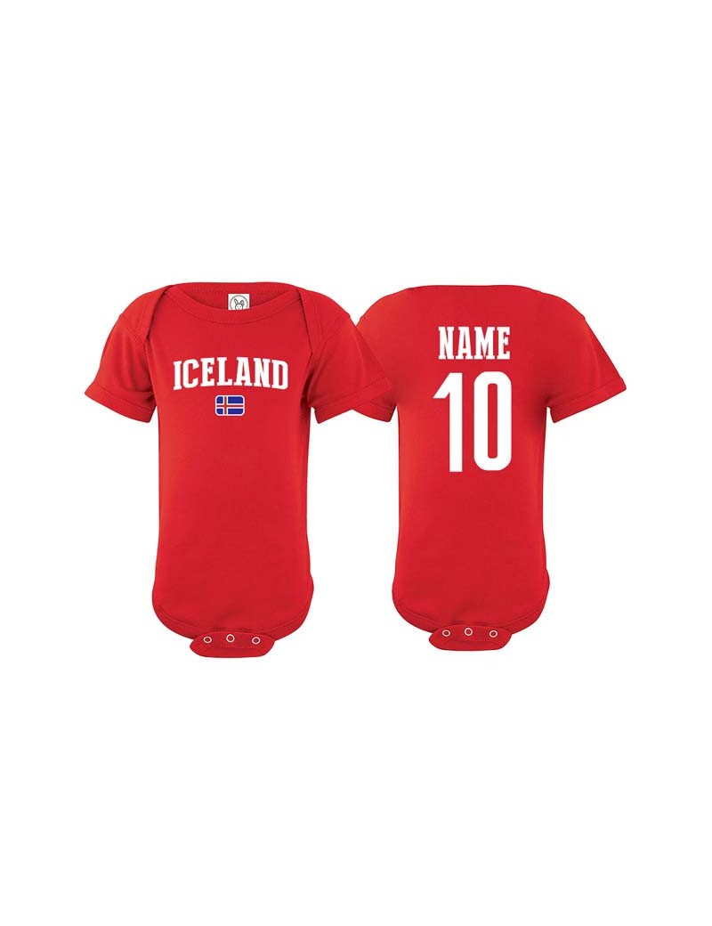new concept 432e6 6a088 Iceland flag country world cup Baby Soccer Bodysuit