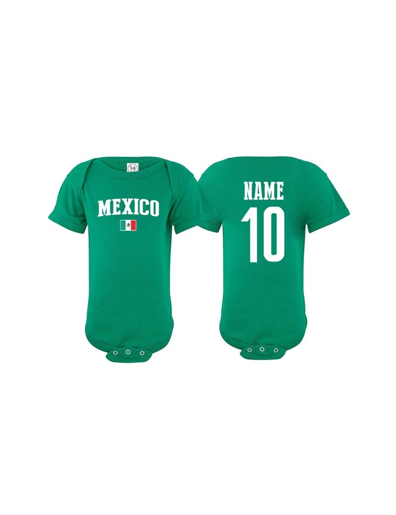 Mexico Jersey Soccer Baby Bodysuit T Shirt Flag World The Sports Ego