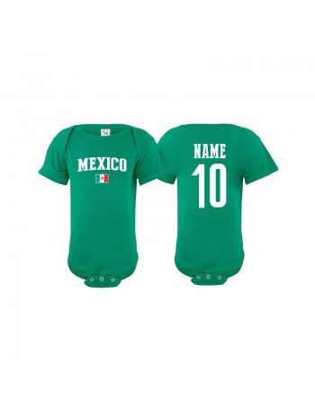 ff0b3d9e6 Mexico Jersey soccer Baby Bodysuit T-shirt Flag World The Sports Ego