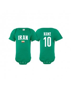 Iran flag world cup Baby Soccer Bodysuit