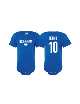 Nicaragua world cup Baby Soccer Bodysuit JERSEY T-SHIRTS