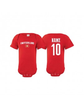 Switzerland country world cup 2018 Baby Soccer Bodysuit jersey T-shirt