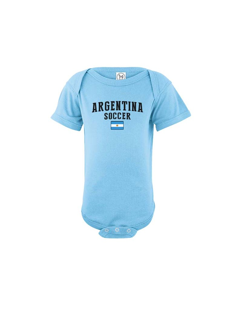 Argentina single world cup 2018 Baby Soccer Bodysuit