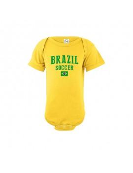 Brazil world cup Baby Soccer Bodysuit