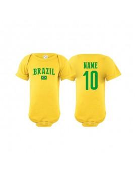 Brazil flag world cup Baby Soccer Bodysuit