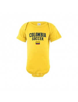 Colombia flag world cup 2018 Baby Soccer Bodysuit, jersey t-shirts