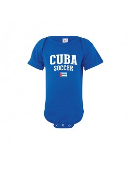 Cuba Country Baby Soccer Bodysuit