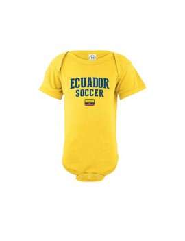 Ecuador country Baby Soccer Bodysuit jersey t-shirts