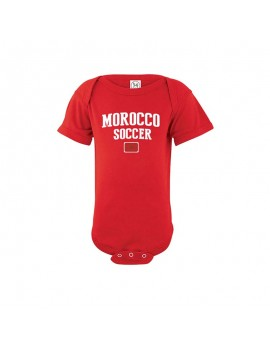 Morocco world cup Russia 2018 Baby Soccer Bodysuit jersey T-shirt