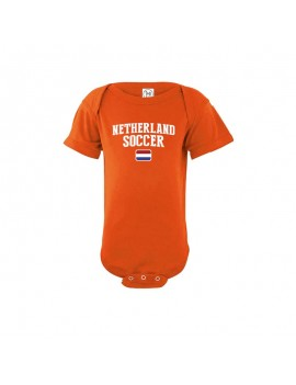 Netherlands World Cup 2018 Baby Soccer Bodysuit jersey t-shirt