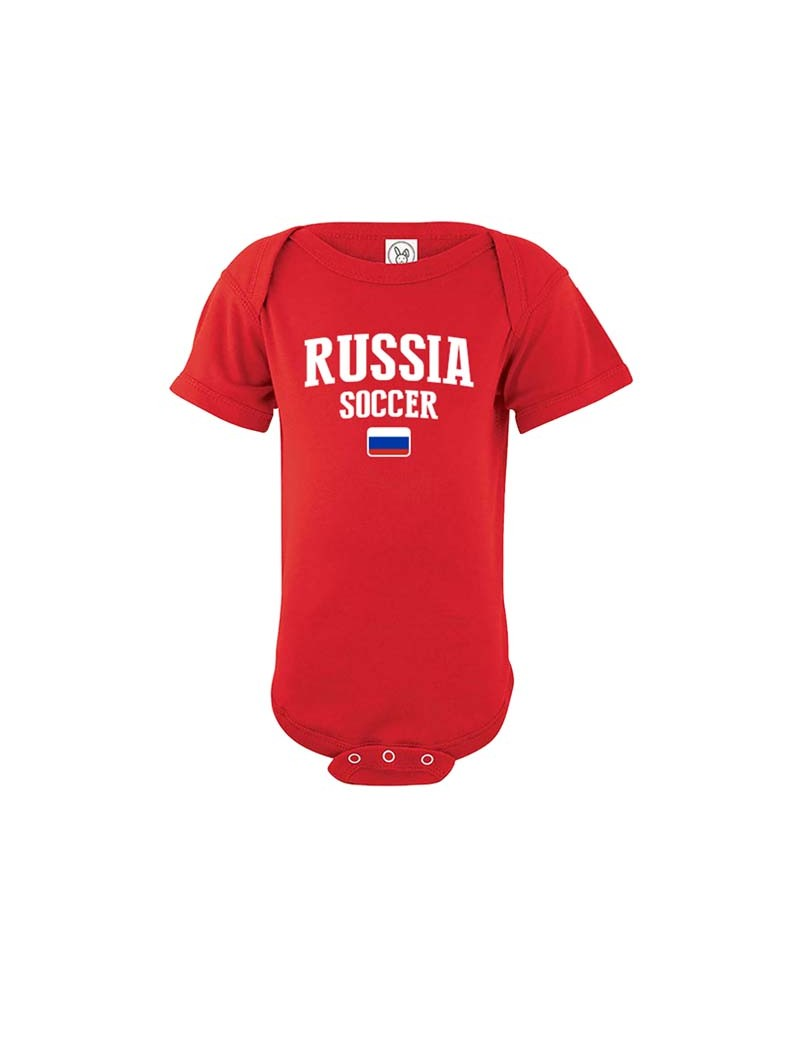 Russia country Baby Soccer world cup 2018 Bodysuit, jersey, t-shirts