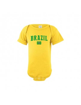 Brazil world cup Russia 2018 Baby Soccer Bodysuit jersey T-shirt