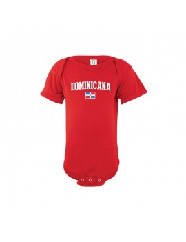 Dominican Republic Country Baby Soccer Bodysuit