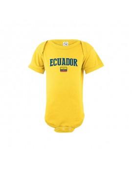 Ecuador flag Country Baby Soccer Bodysuit