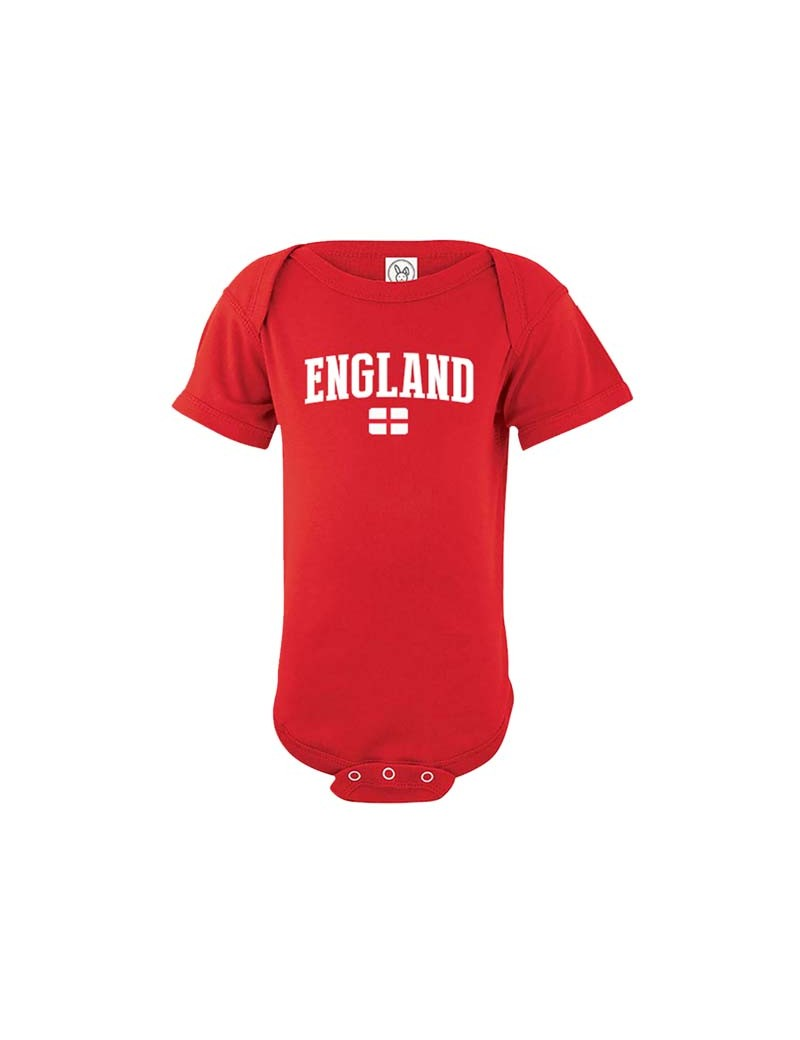 England flag country world cup Baby Soccer Bodysuit