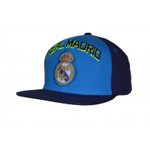 Real Madrid Cap Blue Logo Neon Letters