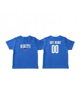 Haiti Country Flag World Cup Baby Soccer T-Shirt