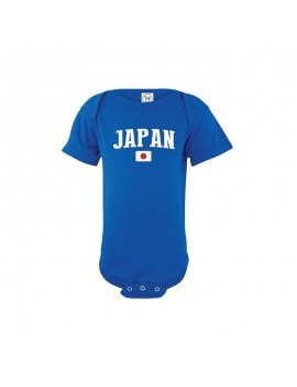 Japan flag country world cup Baby Soccer Bodysuit