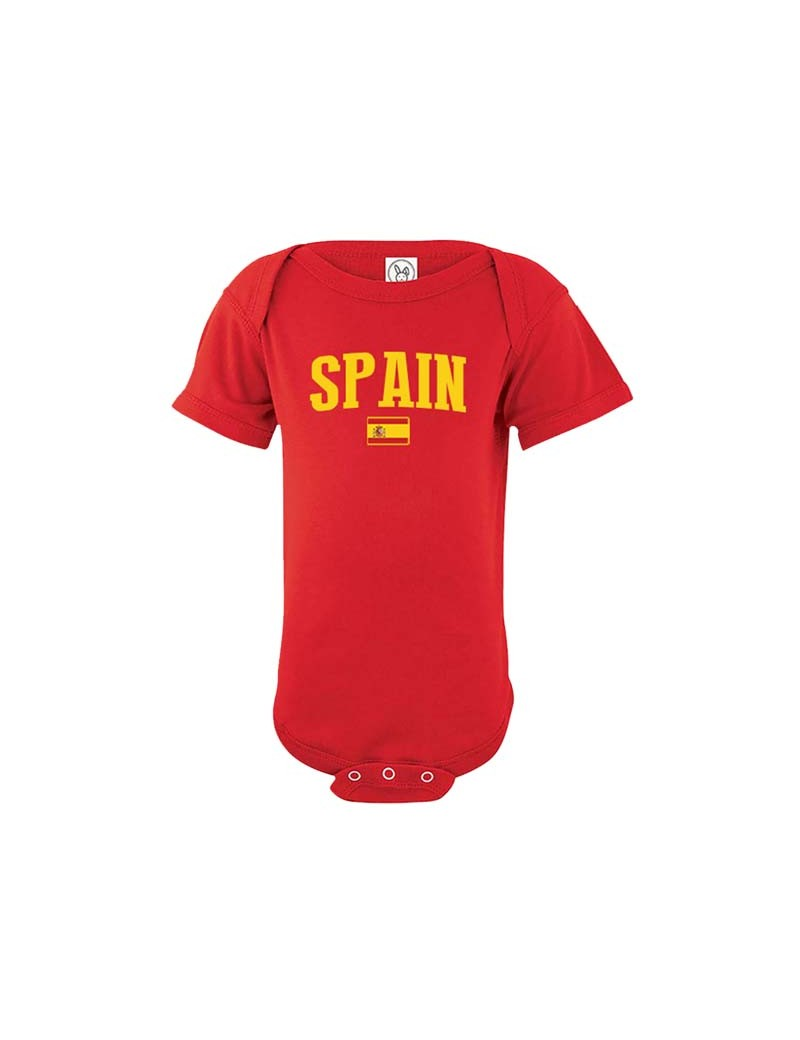 Spain country world cup 2018  Baby Soccer Bodysuit, jersey, t-shirts