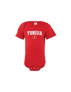 Tunisia country world cup 2018 Baby Soccer Bodysuit jersey T-shirt