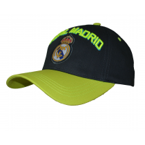 Real Madrid Adult's Cap Hat Black Big Logo Neon Letters