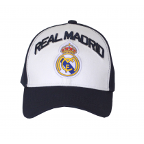 Real Madrid Cap Hat Black and White Big Logo