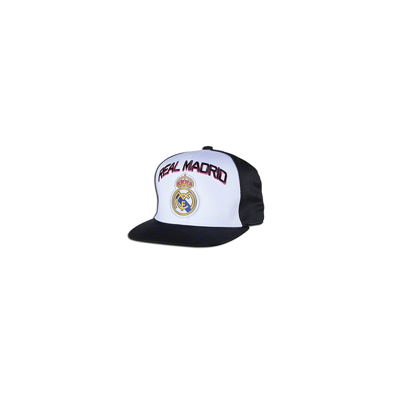 Real Madrid Cap Snap back Hat Black and White Big Logo