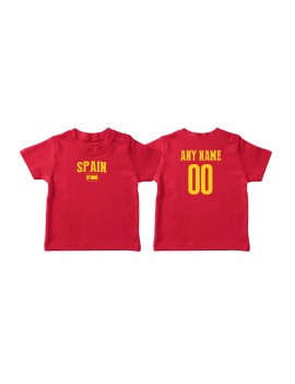 Spain Country Flag World Cup Baby Soccer T-Shirt