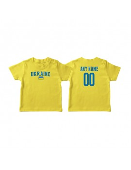 Ukraine Country Flag World Cup Baby Soccer T-Shirt