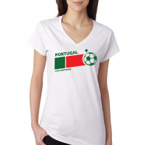 Portugal Women's V Neck Tee...