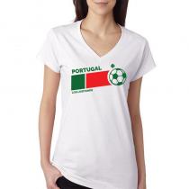 Portugal Women's V Neck Tee...