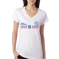 France Women's V Neck Tee T...