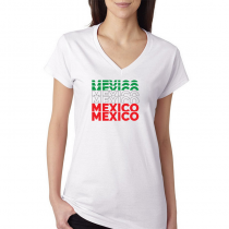 Mexico Women's V Neck Tee T...