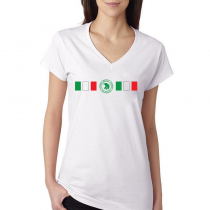 Mexico Women's V Neck Tee T Shirt Jersey  Shield