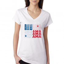 Panama Women's V Neck Tee T...