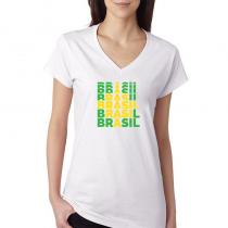 Brasil Women's V Neck Tee T...