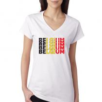 Belgium  Women's V Neck Tee...