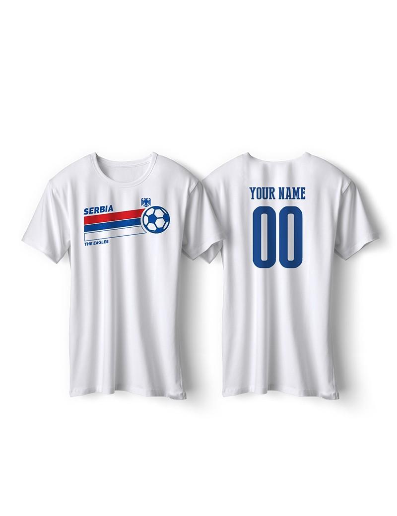 Serbia World Cup Retro Men's Soccer T-Shirt