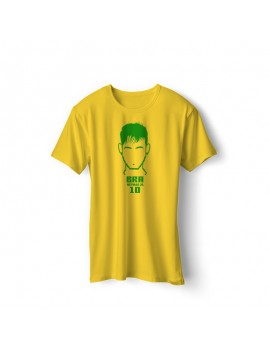 Brazil Men's Soccer T-Shirt Player Neymar