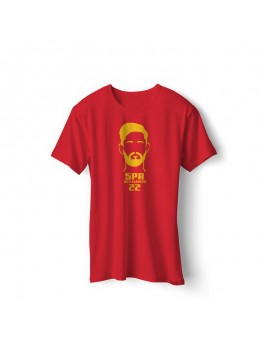 Spain Men's Soccer T-Shirt Player Isco